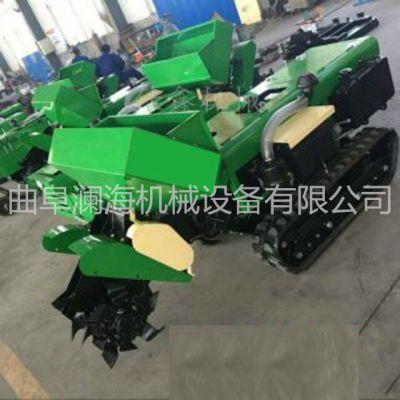 柴油履带式开沟机 自走式多功能施肥机 坡地除草机价格