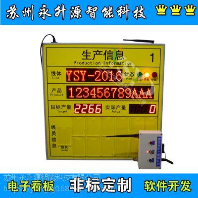 苏州永升源厂家定制无线接收呼叫系统Andon系统车间生产信息看板电子看板PLC计数显示屏