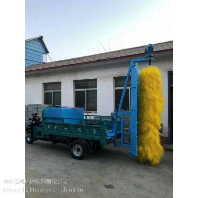 江苏工地架连接式护栏围挡清洗机,车载厢式刷辊转动围墙清洗车