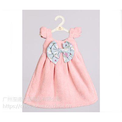 新品可爱少女款珊瑚绒衣裙擦手巾超强吸水不掉毛耐脏擦手巾