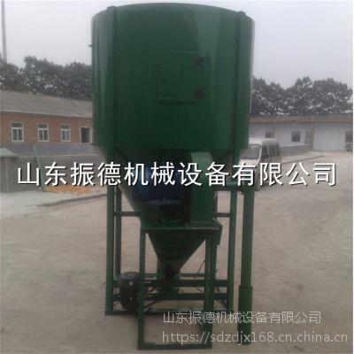供应 立式强力饲料搅拌机 自吸式粉碎饲料搅拌机 价格 振德