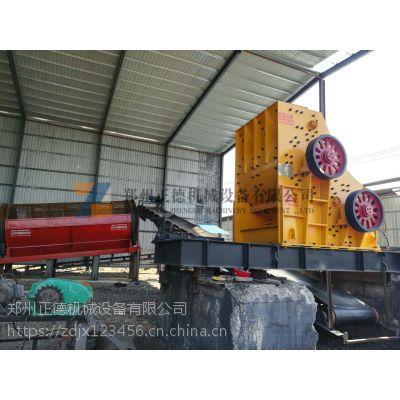 郑州正德2PC1200*1000型双级无筛底粉碎机设备品质卓越 性能稳定深受砖厂客户好评