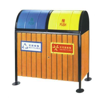 山东 钢木垃圾桶 量大从优