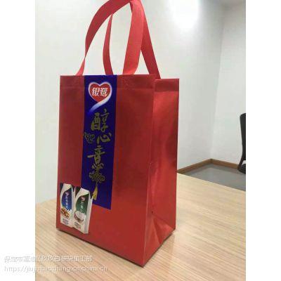 河北保定无纺布袋子加工定制礼品袋广告宣传袋培训书包袋服装店袋子现货
