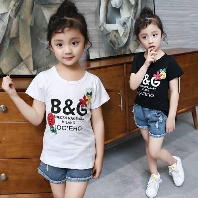 几元童装短袖T恤批发厂家棉 韩版童装套装批发厂家货源甩卖货源