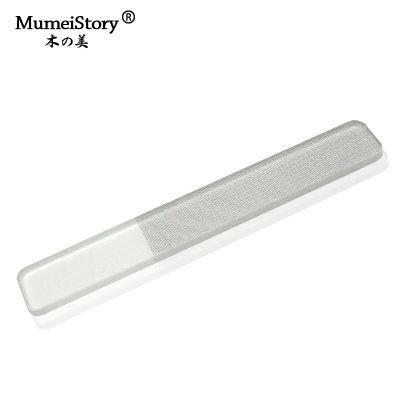 工厂现货直销mumeistory透明手柄独立包装9CM方头韩国纳米玻璃抛光指甲锉美甲器