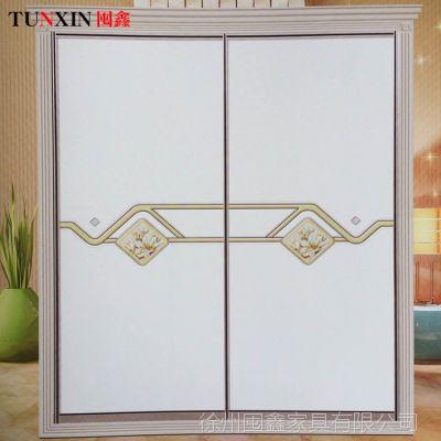 环保吸塑卧室衣柜推拉门 简约木质移门推拉门 整体衣柜可定制