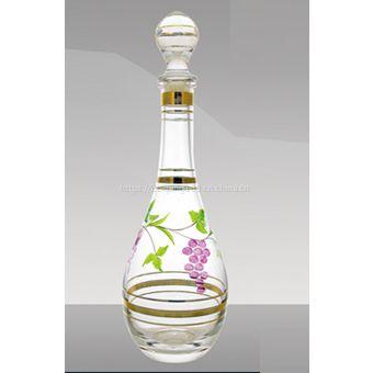 郓城玻璃瓶厂供应高档晶白料玻璃瓶_晶白料烤花玻璃瓶