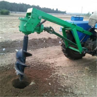 河北大型拖拉机挖坑机 圣鲁电线杆挖坑机