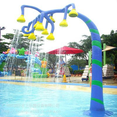 广州润乐水上乐园设备提供戏水小品——牵牛花喷水