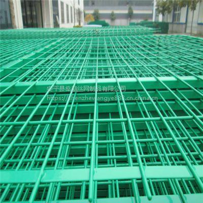 燊喆供应优质绿色框架护栏网 可定制河堤焊接防护边框护栏网