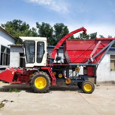 广西自走式玉米秸秆粉碎青贮机 全自动苜蓿草粉碎回收机厂家