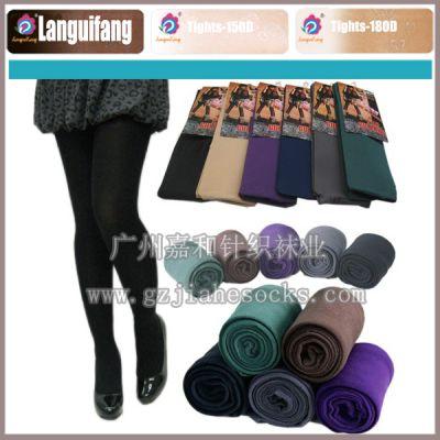 供应180D时尚袜裤 黑色襪褲 純色襪褲 广东袜子丝袜加工厂