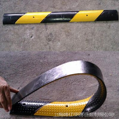 小型减速标线带 橡胶挡水带 减速带 小型PU缓冲垫