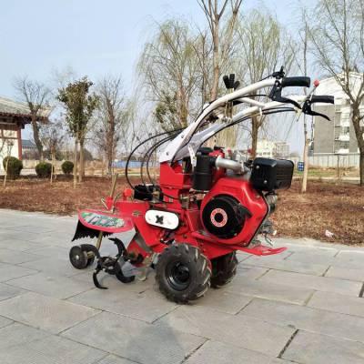 手扶开沟培土拖拉机 价格美丽的小型管理机 9马力快速埋葱培土机