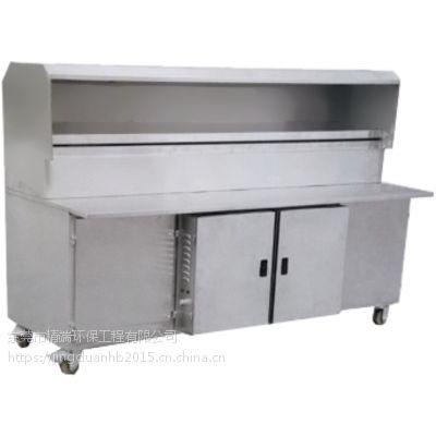 精端环保室外便携式无油烟烧烤车