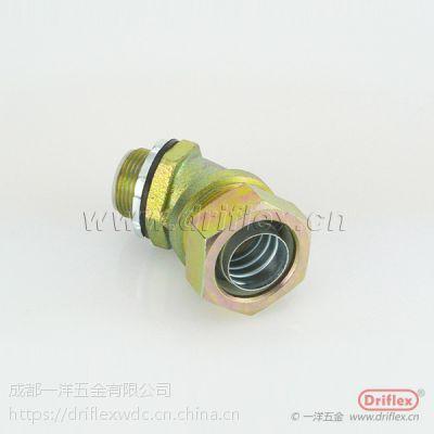 成都供应带锁紧金属软管接头管连接件内外丝接头