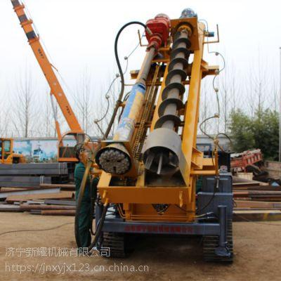 螺旋打桩机液压及传动机构,专用两用护栏打桩机报价