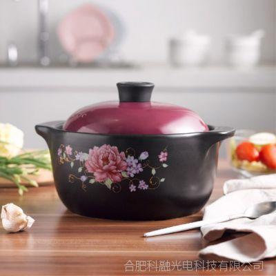 唯都 稻香养生煲W-D128/2.8ML 黑釉+烤花+紫红色
