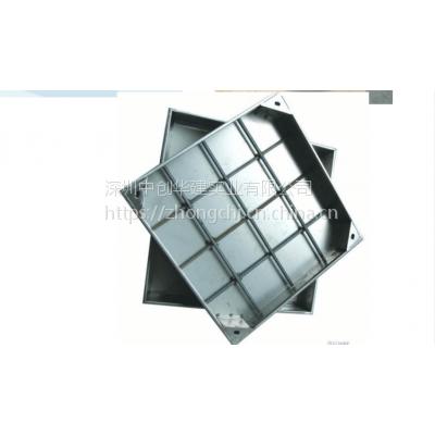深圳中创 不锈钢隐形装饰井盖 雨水收集 球墨铸铁 复合井盖