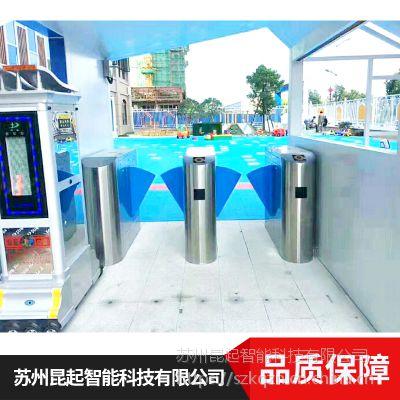 江苏昆起 HM-ZG-10翼闸指纹识别系统 不锈钢翼闸 厂家销售