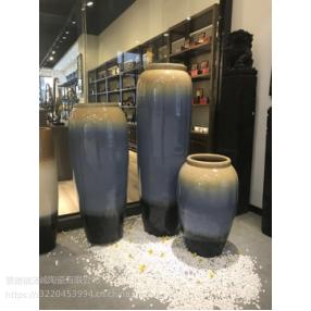 陶瓷落地花瓶干花颜色釉窑变花瓶现代欧式客厅酒店别墅摆件