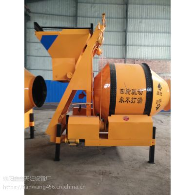 深圳天旺400型爬斗结构环保建筑搅拌机