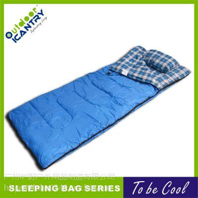 旷野户外 睡袋 旅行露营用品成人睡袋信封保暖睡袋