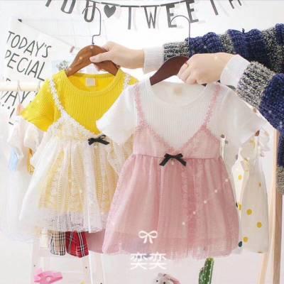 广州童装批发厂家直销实体店热卖爆款女童套装批发货到付款女孩子漂亮好看蓬蓬公主裙