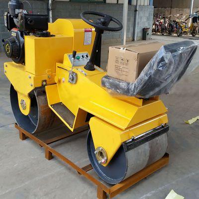 小座驾压路机 回填土压实机 双轮压路机 小型座驾压土机