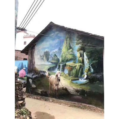 学校墙绘 餐饮装修个性手绘 酒店风格绘画