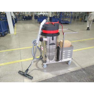粮食仓库用电瓶工业吸尘器 威德尔1500W吸尘设备WD-80P