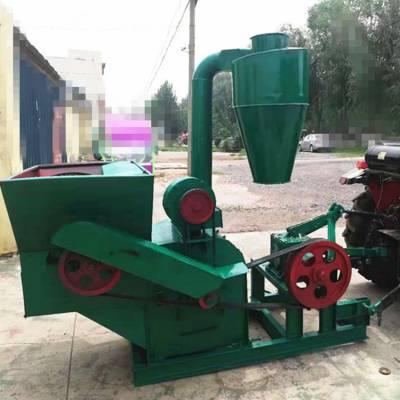 现货小型饲料加工沙克龙粉碎机 可以除地膜的秸秆粉碎机 邦腾制造