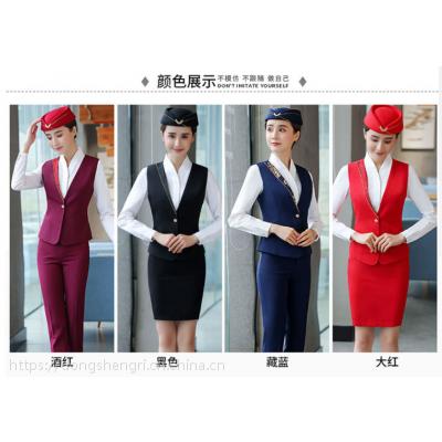 湖南职高学院空姐服,高铁制服地铁职业套装