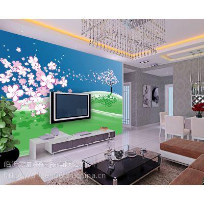 山东背景墙设计 现代简约吊灯 沙发背景墙