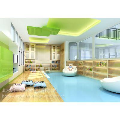幼儿园墙面装饰设计,早教幼儿园装修设计汕头,蓝色木棉专业设计公司