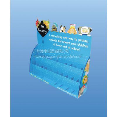 供应纸货架、纸展示架、纸PDQ、纸质POP等(平摊包装,拆装方便,可重复使用,并节约运输成本。)