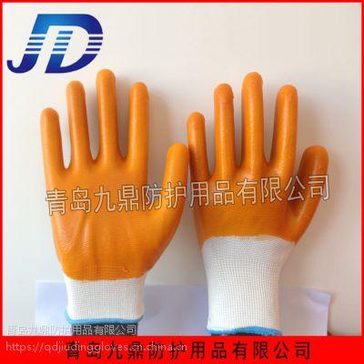 工厂直销手部防护尼龙针织PVC大全挂浸胶型牛筋劳保用品手套耐油