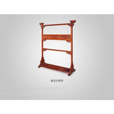 山西忻州精品厂家直销批发红木家具价格表缅甸花梨大果紫檀衣帽架