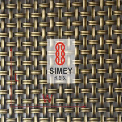 丝美艺硬装XY-3150G不锈钢网304 轧花编织金属板网 古铜色菱形网
