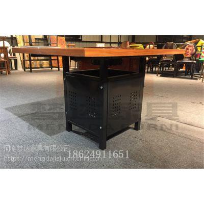 火锅桌椅组合定做loft工业风格主题餐厅串串香大理石电磁炉火锅桌
