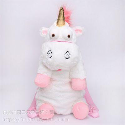 外贸原单独角兽毛绒玩具厂家直销可来图打样设计 OEM加工定制