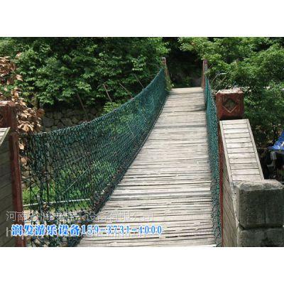 新款防腐木吊桥供应,润发游乐安全保证