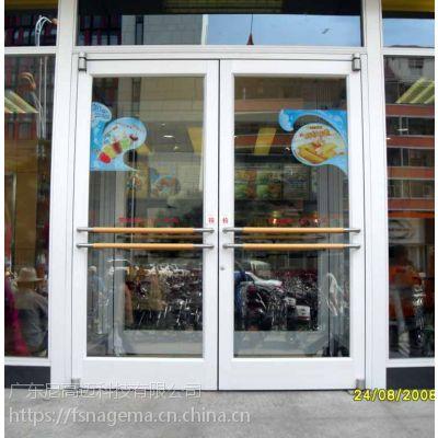 供应佛山防盗肯德基门 优质铝合金地弹簧门 商铺大门