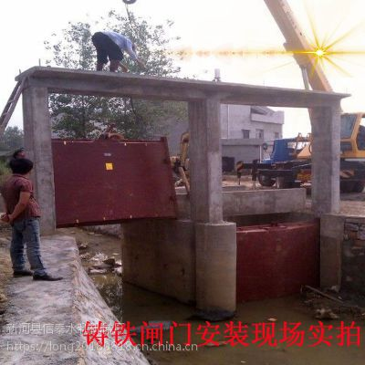 厂家直销QL型水库水渠渠道手动电动螺杆式启闭机法兰铸铁闸门