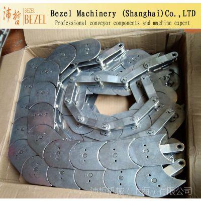 不锈钢寿司链 月牙回旋输送链 大小滚珠订做  回转火锅设备配件