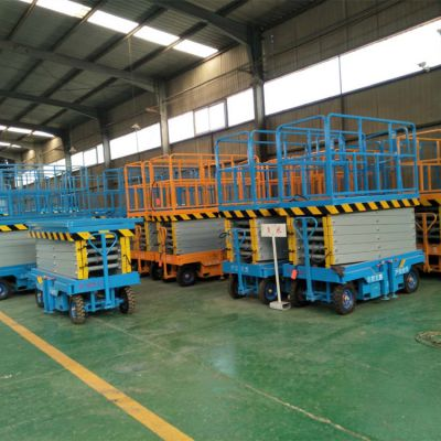 济南金创 厂家直供移动式升降机 SJY0.5-10 剪刀式货梯 牵引式四轮升降梯 4米6米8米10米