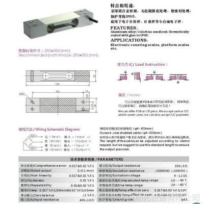 供应昆仑KL601平行梁式称重测力传感器