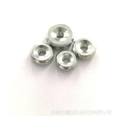 源头厂家批发内套牙圆螺内牙M5 M6 M8 1/4-20 5/16牙焊接管塞螺母