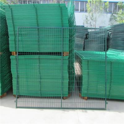 三角折弯护栏网 双圈防护网 临时隔离带安装